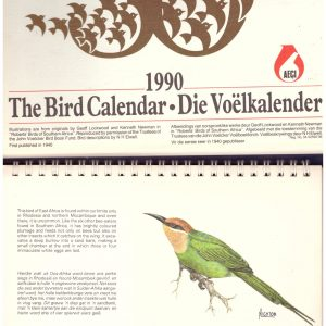 THE BIRD CALENDAR / DIE VOELKALENDER.