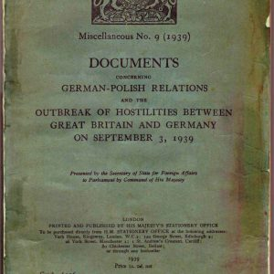 DOCUMENTS Concerning GERMAN-POLISH RELATIONS