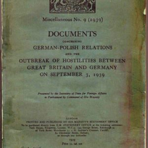 DOCUMENTS Concerning GERMAN-POLISH RELATIONS