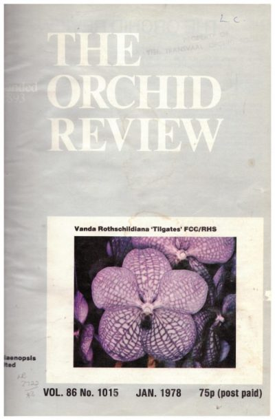 The Orchid Review 1978