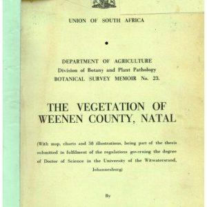 Vegetation of Weenen County