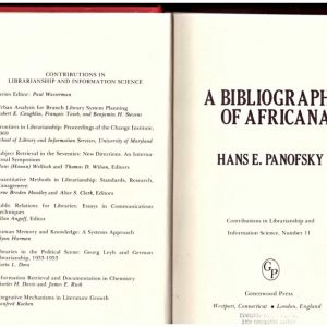 A BIBLIOGRAPHY OF AFRICANA.
