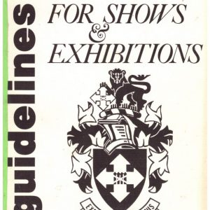 Guidelines for Shows and Exhibitions