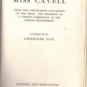 The Case of Miss Cavell