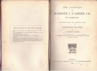 The Journals of Maj-Gen CG Gordon