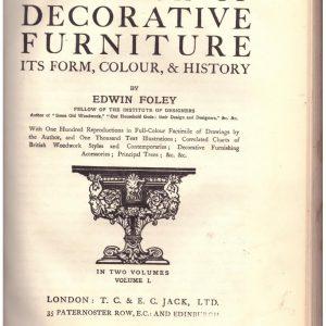 The Book of Decorativ Furniture